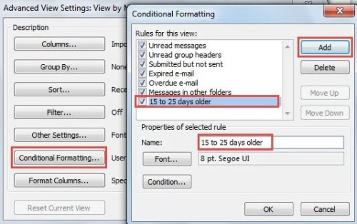 How to Auto Highlight Outlook Emails Based on Their Ages