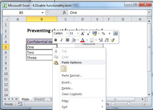 How to Prevent Your Excel Workbook from being Moved or