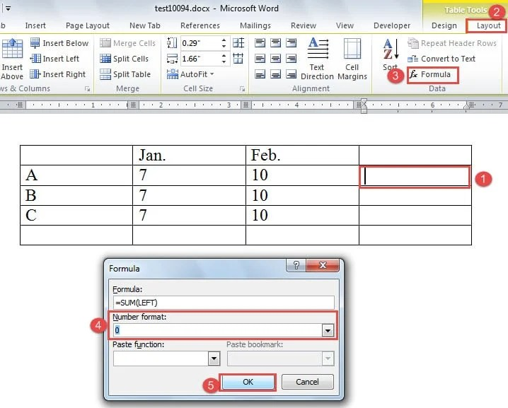 3 Quick Ways to Sum Numbers in Your Word Table - Data Recovery Blog