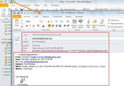 Forward Meeting Invitation With Outlook Vba