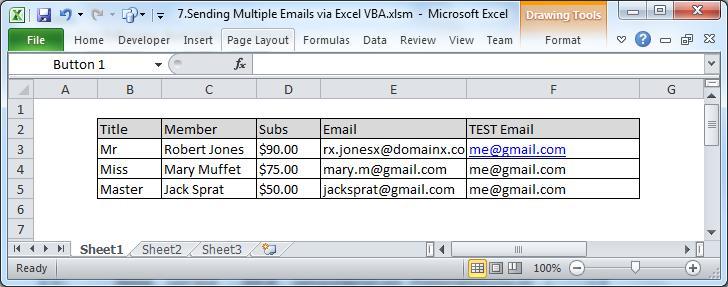 How to Batch Send Multiple Emails via Excel VBA - Data
