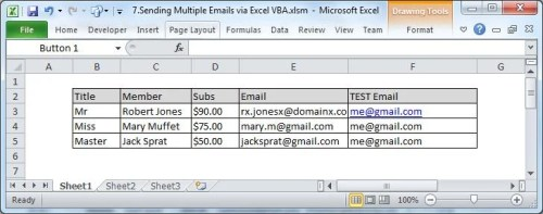 How to batch send multiple emails via excel vba data recovery blog copy the text into a workbook ibookread ePUb