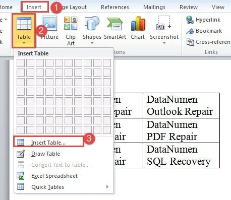 4 Ways To Quickly Add Multiple Rows Or Columns To An Existing Word