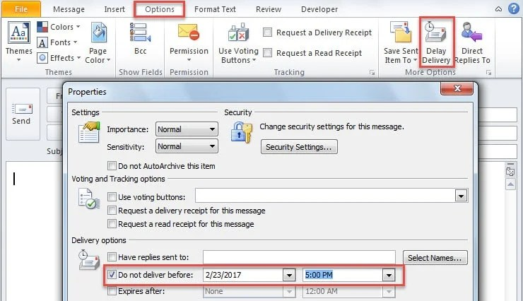 2 Methods to Delay Sending a Meeting Invitation in Outlook - Data