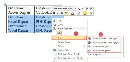 4 ways to quickly add multiple rows or columns to an existing word table data recovery blog - How to add a column in a table ...