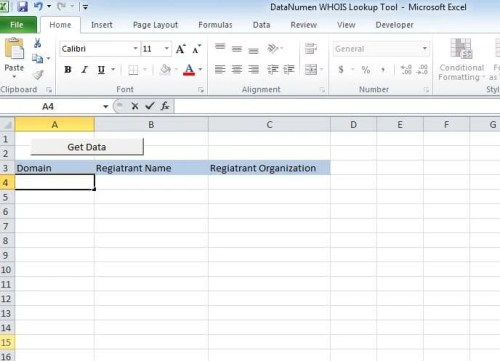 How to Create a WHOIS Lookup Tool via Excel VBA - Data