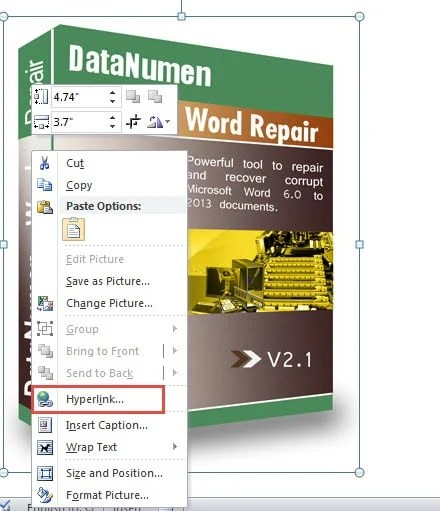 how to add hyperlink in word in same document
