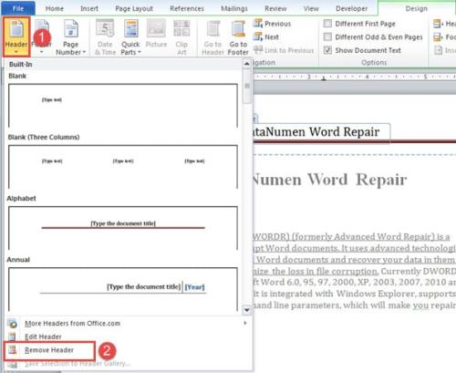 3 Methods to Print Your Word Document without Header and