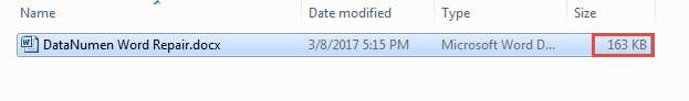 The Original File Size