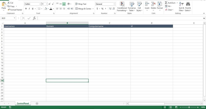 Create The Sheet ControlPanel