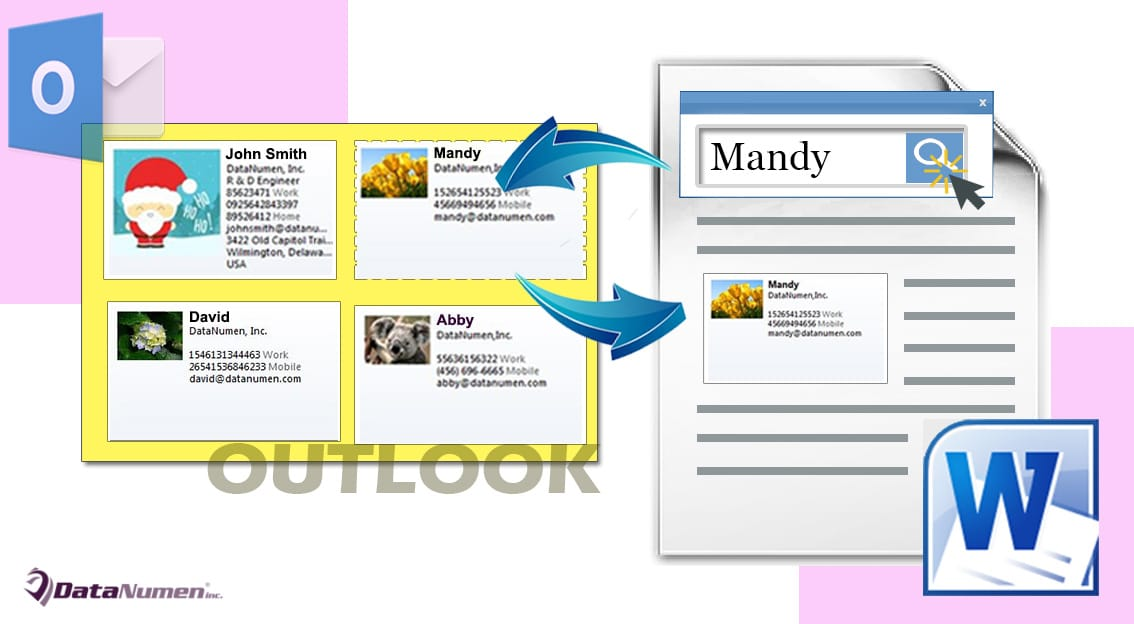 How to Quickly Insert the Business Card of a Specific Outlook ...