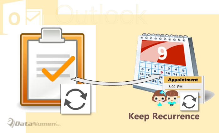 Keep the Recurrence When Copying a Recurring Task to Calendar as a New Appointment