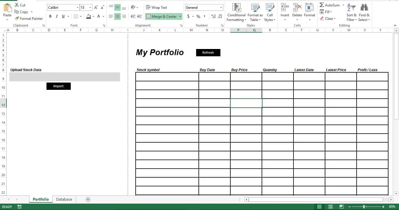 Prepare Sheet Portfolio