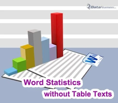 Exclude Table Texts from Word Count Statistics