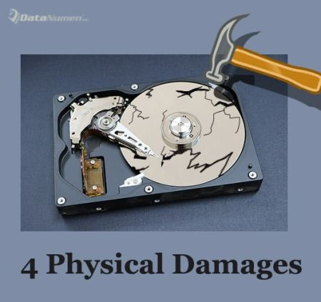 4 Most Common Physical Damages on Hard Disk Drives