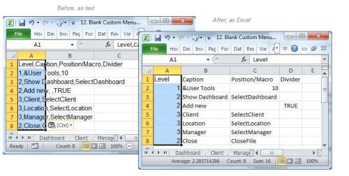 Format It Into Individual Excel Cells