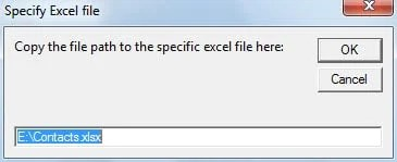 Specify Excel File