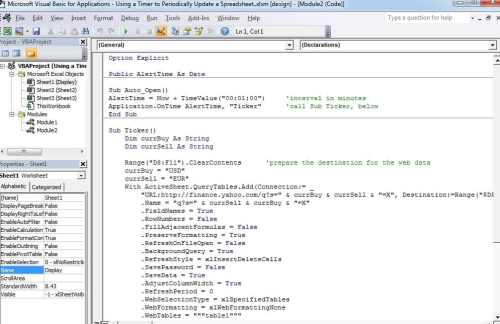 How to Update an Excel Worksheet Periodically with a VBA ...
