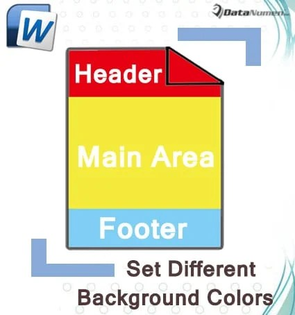 Set Different Background Colors for Header, Footer, and Main Document