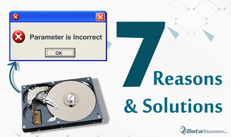 """7 Reasons & Solutions for """"The parameter is incorrect"""" Error"""