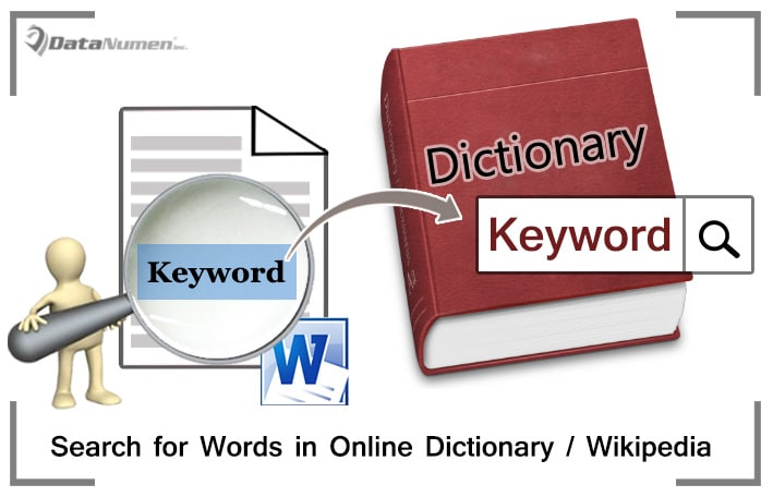 Search for Words in Online Directories or Wikipedia