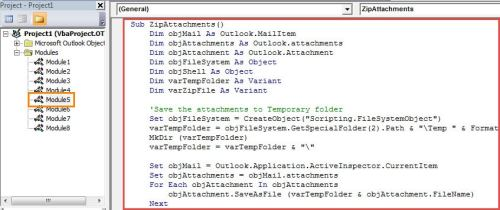 VBA Code - Quickly Compress All Attachments into a Zip File in Your Outlook Email