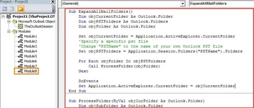 VBA Code - Expand All Mail Folders