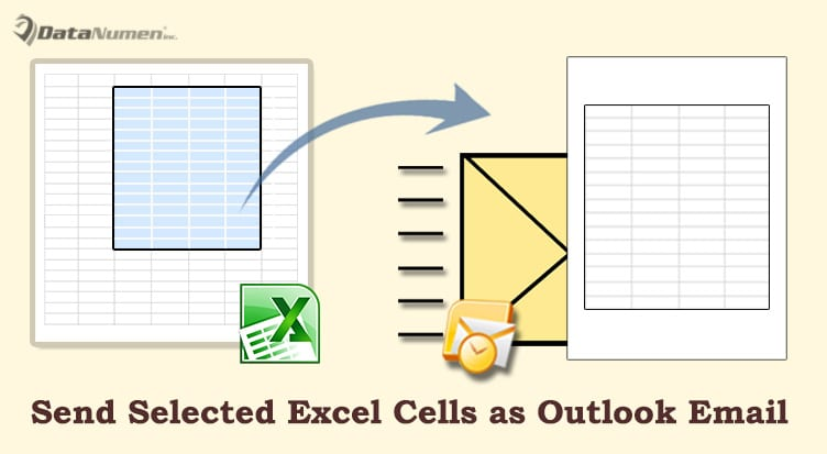 2 Methods to Quickly Send Selected Cells in an Excel Worksheet as an