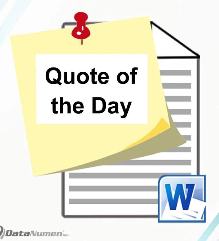 """Adding a """"Quote of the Day"""" Feature in Your Word"""