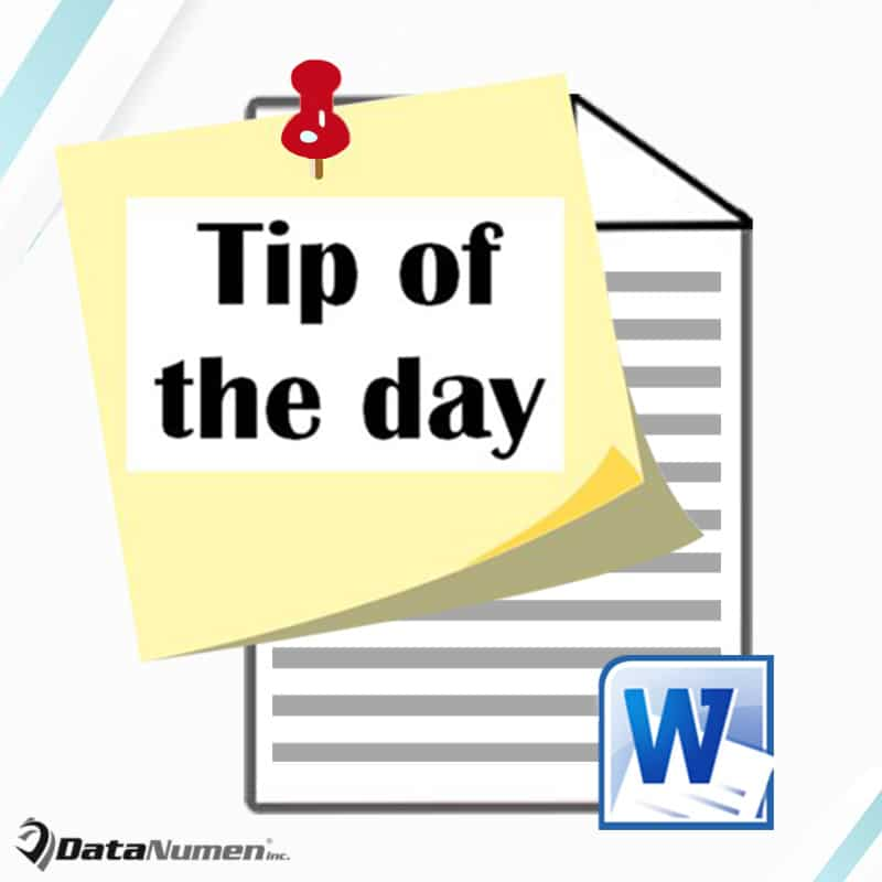 """Adding a """"Tip of the Day"""" Feature in Your Word"""