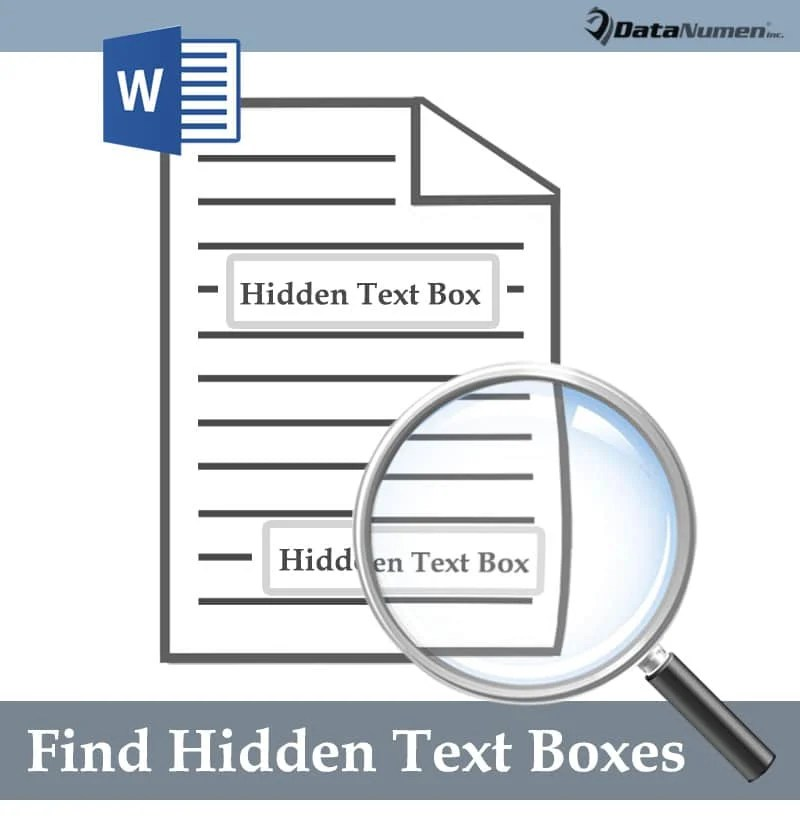 Find Hidden Text Boxes in Your Word Document