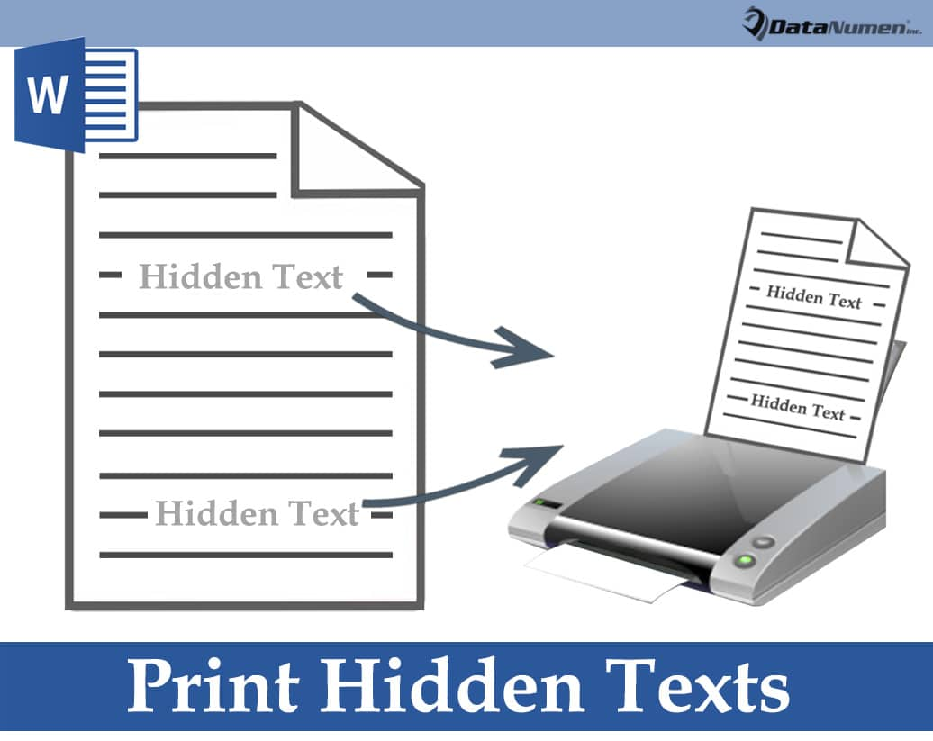 Print Hidden Texts in Your Word Document