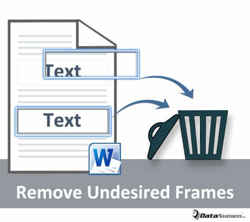 Remove Undesired Frames in Your Word Document