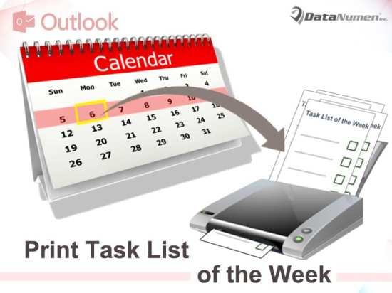 Auto Print the Task List of the Whole Week Every Monday in Your Outlook