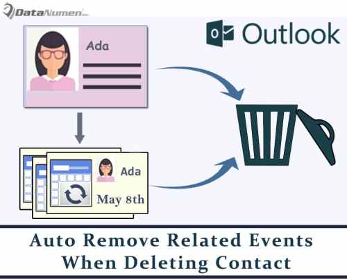 Auto Remove Related Birthday & Anniversary When Deleting an Outlook Contact
