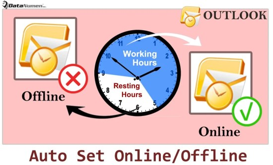 Auto Set Outlook Online or Offline Based on Your Working Hours