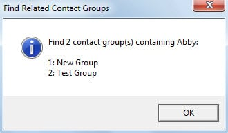 List Related Contact Groups