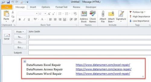 how to send excel file to email automatically in c