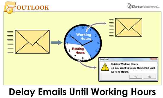 Quickly Delay Sending Specific Emails until Working Hours in Your Outlook