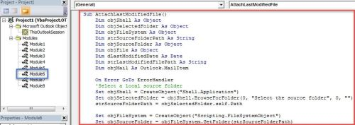 How to Quickly Attach the Last Modified File in a Windows