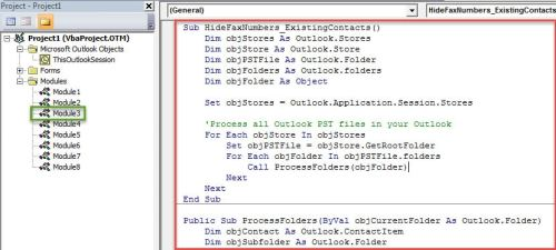 How to Hide Fax Entries in Your Outlook
