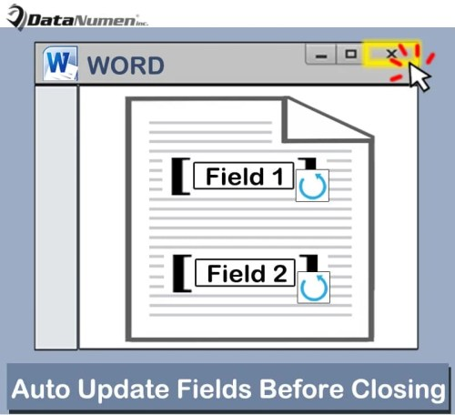 How to Auto Update All Fields before Closing Your Word ...