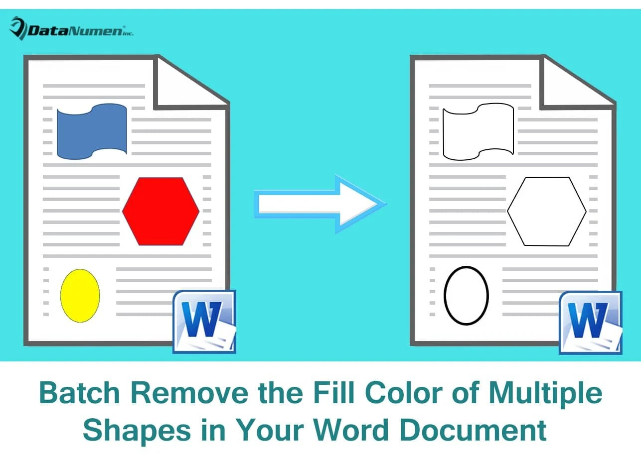 3 Ways to Batch Remove the Fill Color of Multiple Shapes in Your