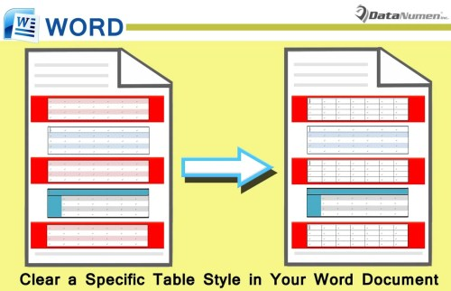 Clear a Specific Table Style in Your Word Document