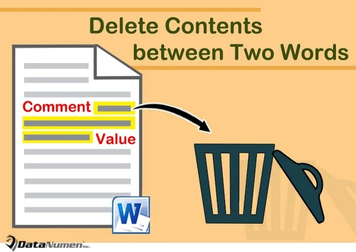 Delete Contents between Two Specific Words in Your Word Document
