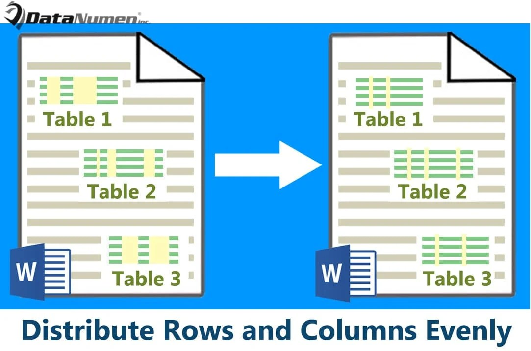 Distribute Rows and Columns Evenly in Your Word Table