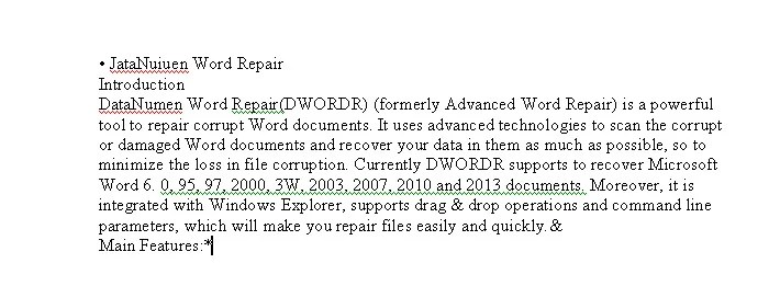 Effect of Using Microsoft Office Document Image Writer