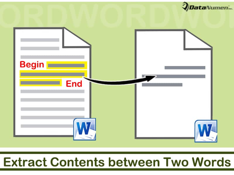 Extract Contents between Two Specific Words from One Word Document to Another
