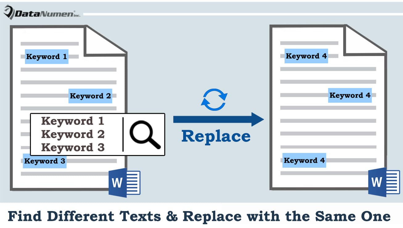 Find Different Texts and Replace with the Same One in Your Word Document