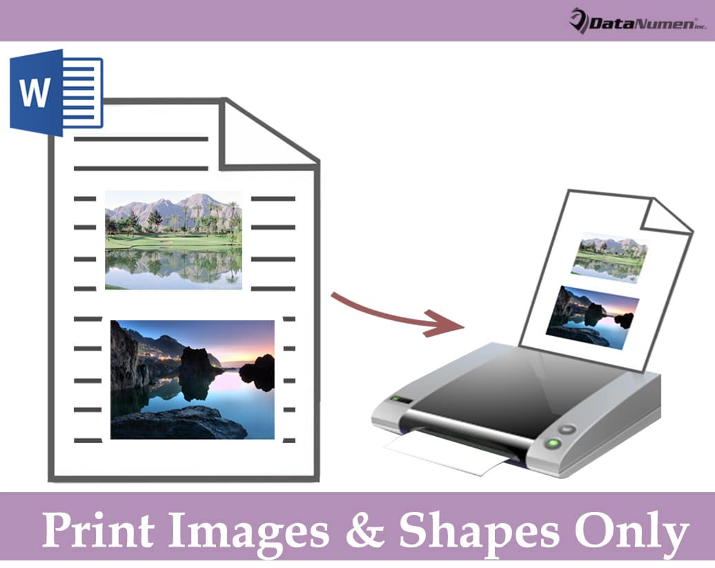 Print Images and Shapes Only in Your Word Document